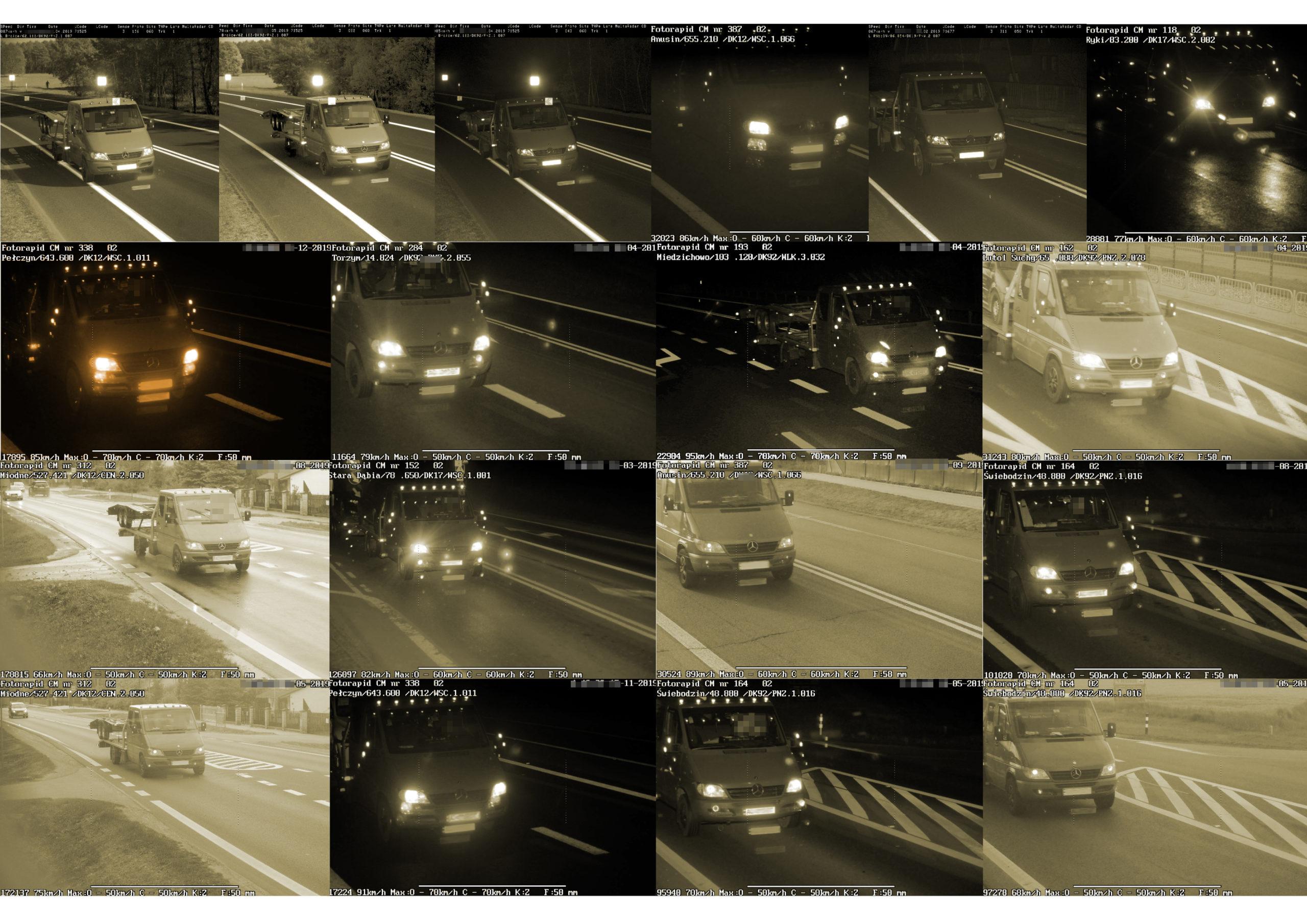 Seria przekroczeń prędkość zakończona serią mandatów! Kierowca z Ukrainy był przekonany, że bezkarnie może łamać w Polsce przepisy.