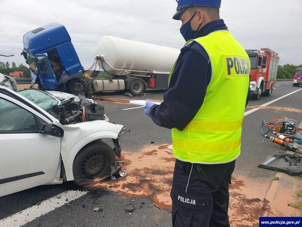 Tragiczny wypadek na drodze krajowej nr 16