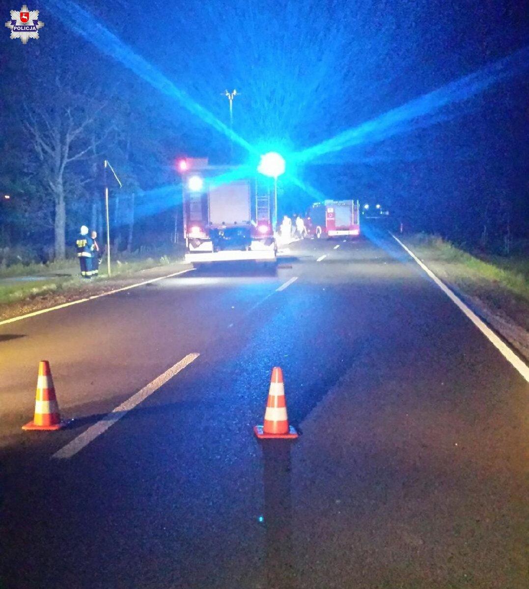 Tragedia! Motocyklista wjechał w łosia! Nie żyje kierowca, jego córka w ciężkim stanie trafiła do szpitala