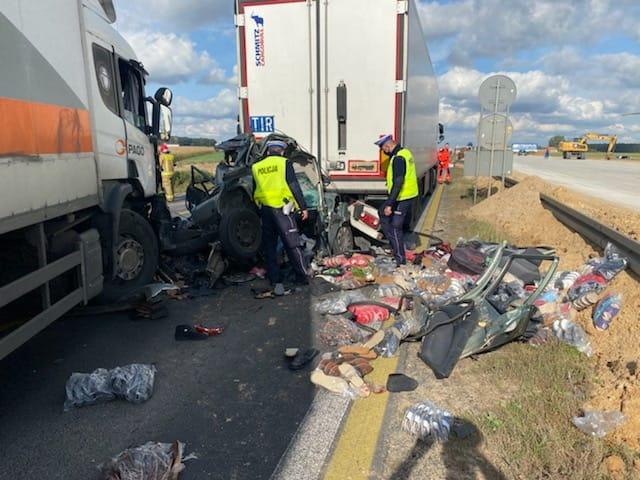 Śmiertelny wypadek na A1. Nie żyje 49-letni kierowca skody