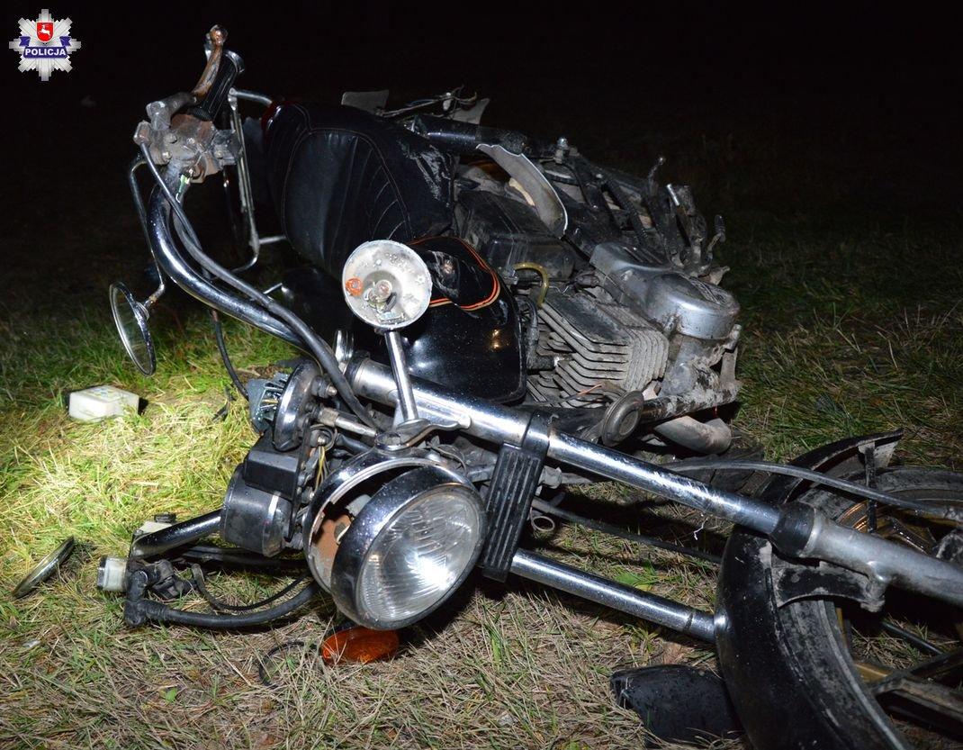Motocyklista zmarł po zderzeniu z fordem