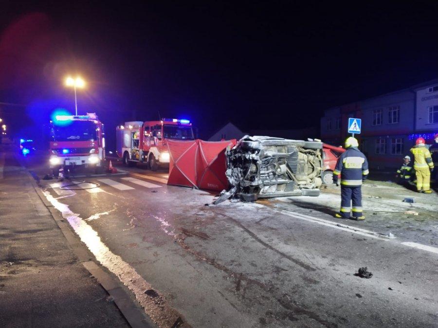 Tragiczny wypadek w Bliznem - nie żyją dwie osoby