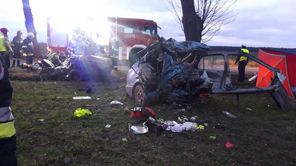 Tragedia! Nie żyje kobieta i miesięczne dziecko. Auto zderzyło się z dzikiem, potem uderzyło w drzewo